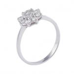 anillo de compromiso oro blanco y brillantes