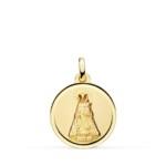 Medalla Virgen Desamaparados Bisel Liso Oro