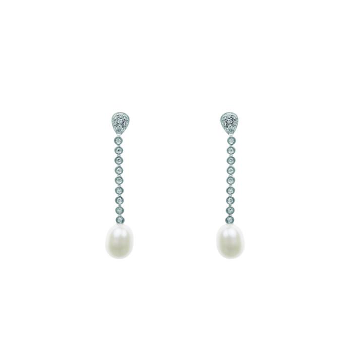 Pendientes Gracia | Oro, Diamantes y Perlas