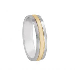 Alianza boda Vega Oro bicolor