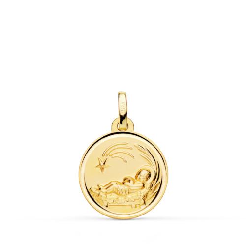 Medalla-Nino-belen-oro-amarillo