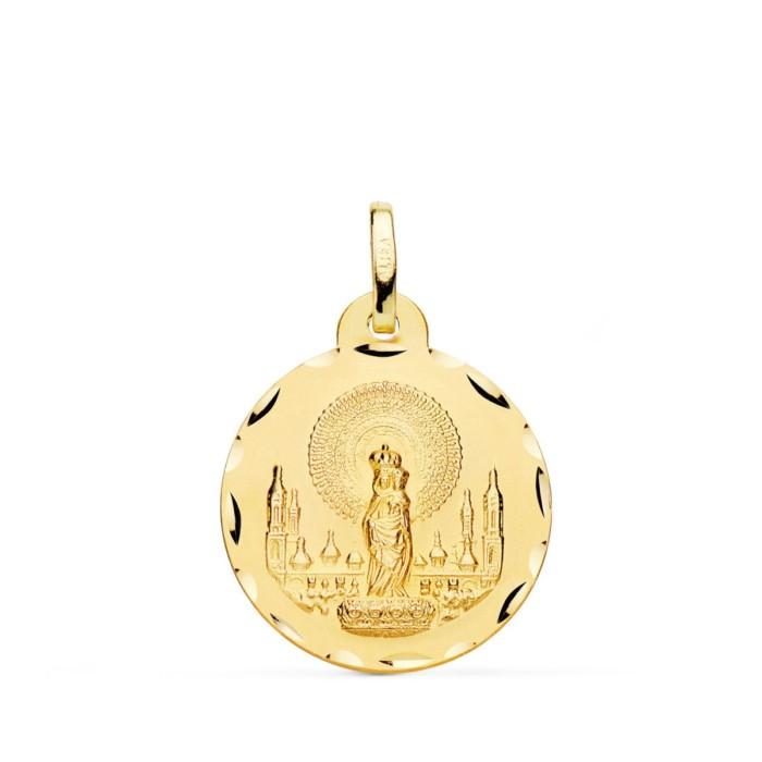 Medalla Virgen del Pilar Oro 18k
